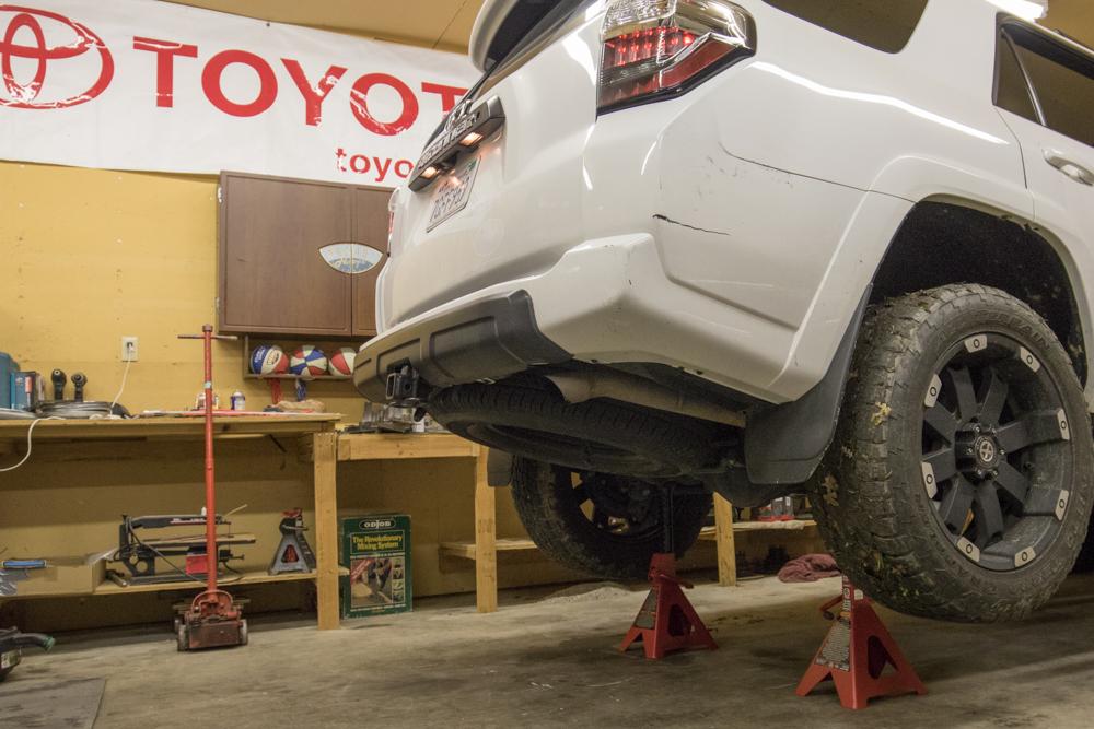 MagnaFlow Exhaust Cat-Back Exhaust Install - Jack up Truck