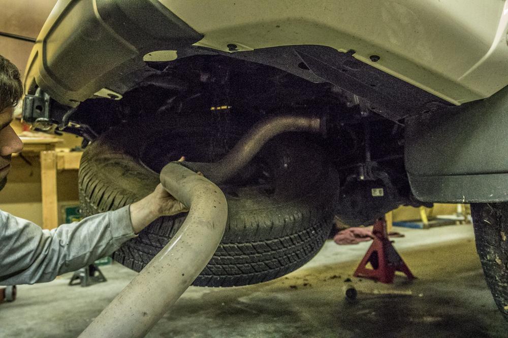 MagnaFlow Cat-Back Exhaust Install - Remove OEM 4Runner Exhaust Pipe
