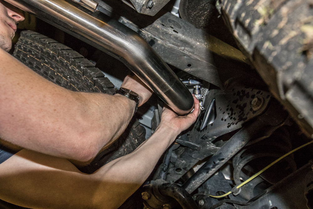 MagnaFlow Exhaust Cat-Back Exhaust Install - Installing New Tail Pipe