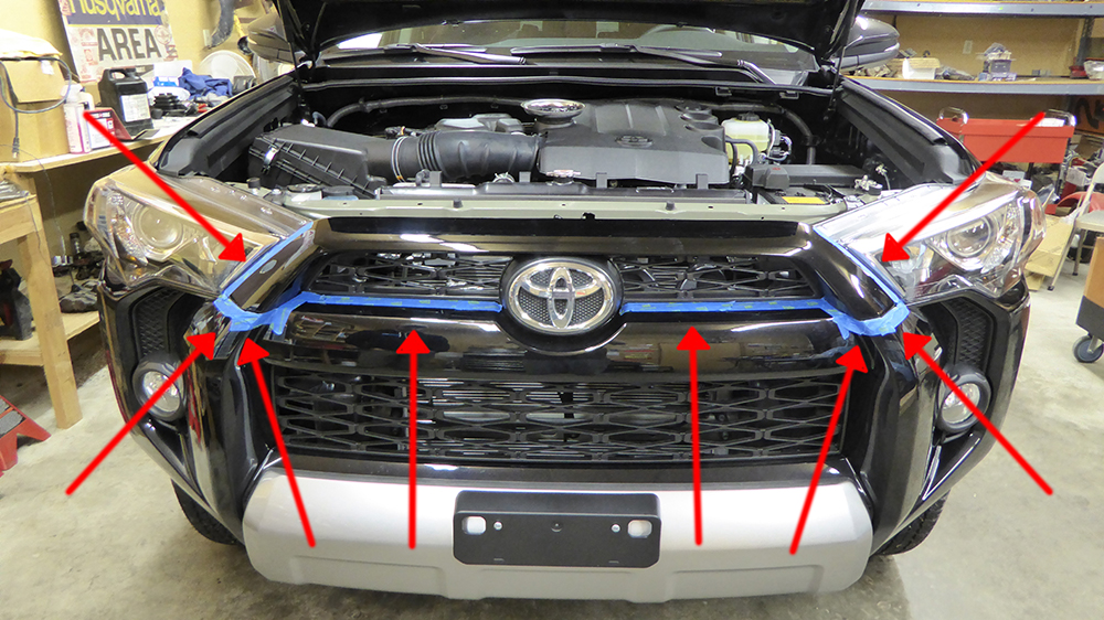 Trd Pro 4runner Grill Swap Kit 5th Gen 2016 The Quot Toyota Quot Grill