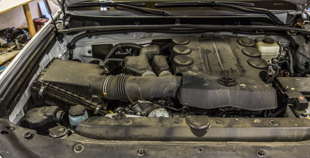 TRD Cold Air Intake Install - Step 1