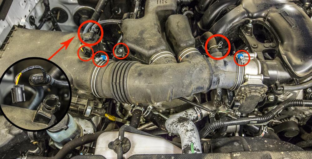 CAI Install - Step 2 - Remove Brackets & Screws