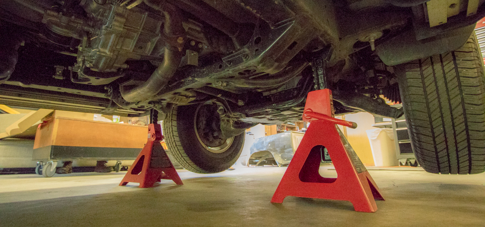 Spacer Level Kit Step #3 - Lift and Jack 4Runner on Frame