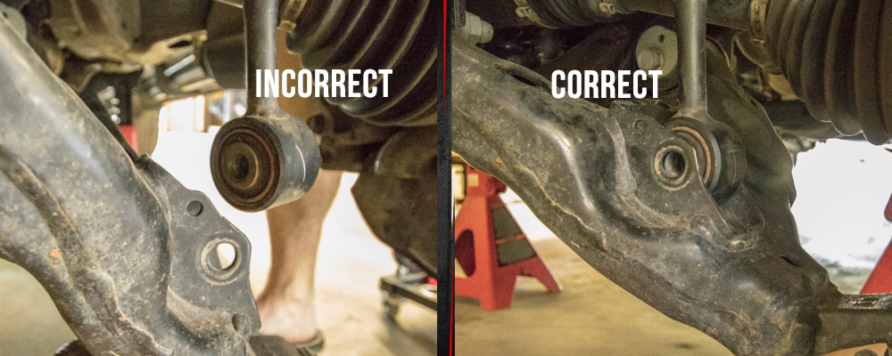 Correct and Incorrect Placement of Front Strut