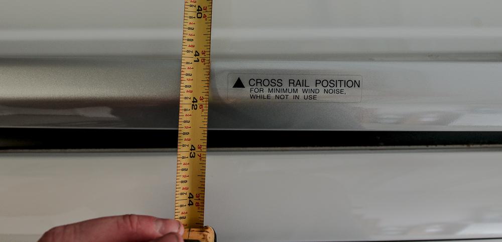 Rhino-Rack Install Step #6 - Measuring Crossbars Width