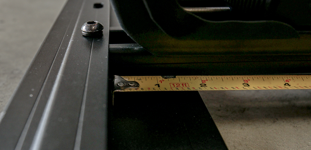 """Bolt Down CXB Legs to Crossbars at 41.5"""" on center"""