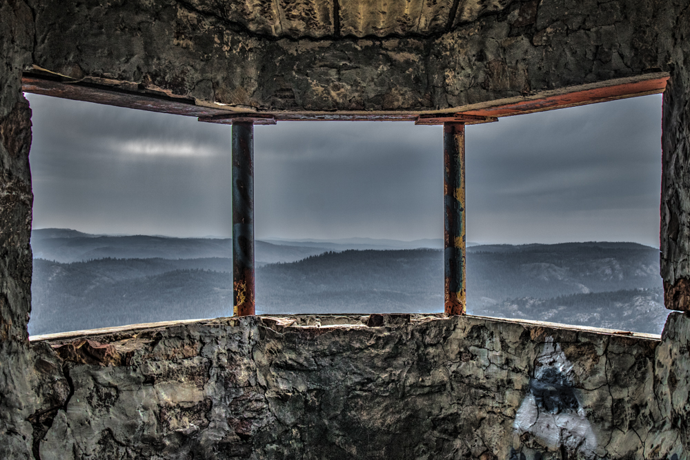 Signal Peak Lookout Building - Inside Views