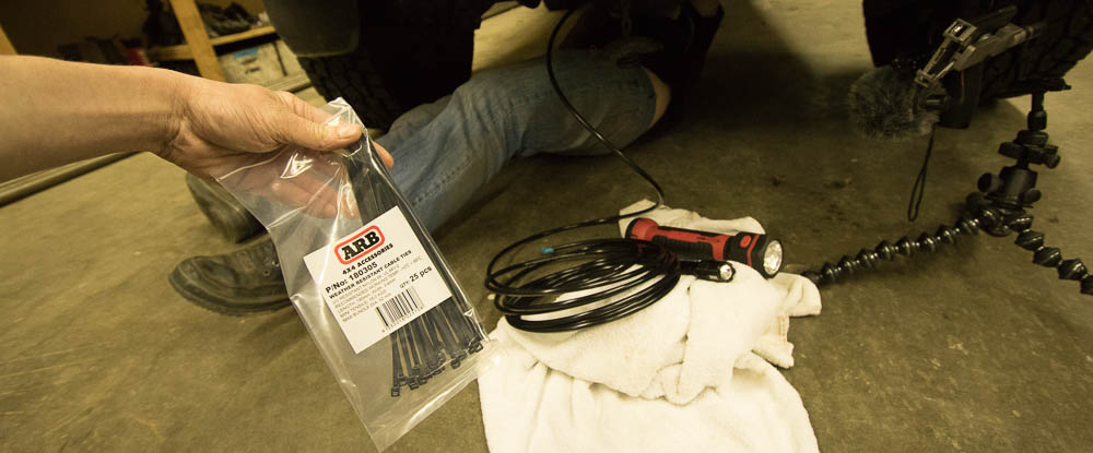 ARB Diff Breather Install Step #4:Start Running Breather Hose