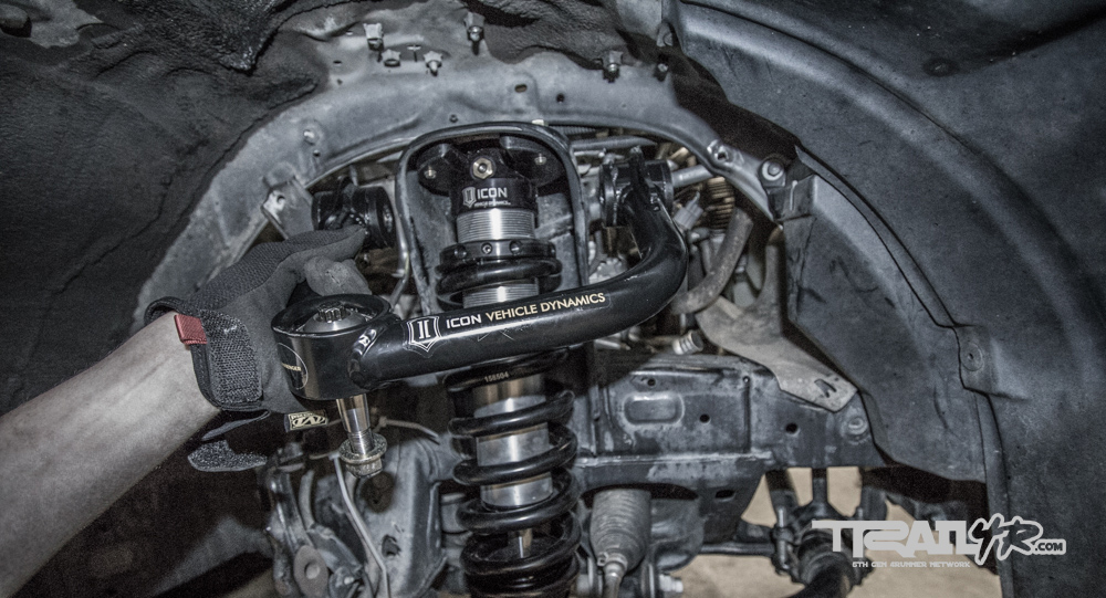Icon Install Step 18: Installing Icon Tubular Uniball Upper Control Arms