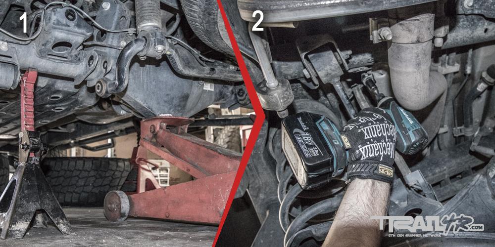 Icon Rear Step 6: Loosen KDSS & Unbolt Brake Line