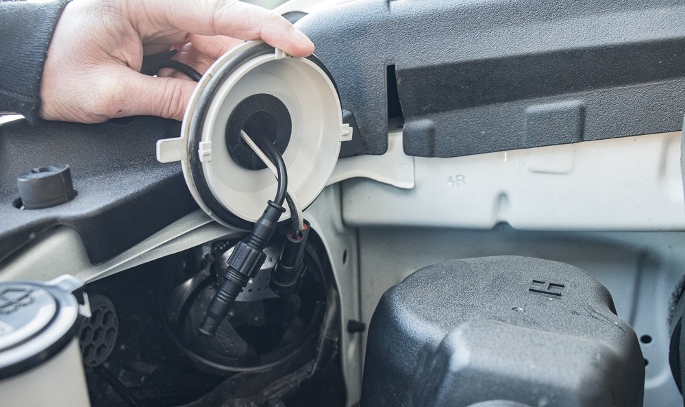 Low Beam (H11 Bulb) Install - Step #12: Plug In Everything/ Screw on Dust Cap