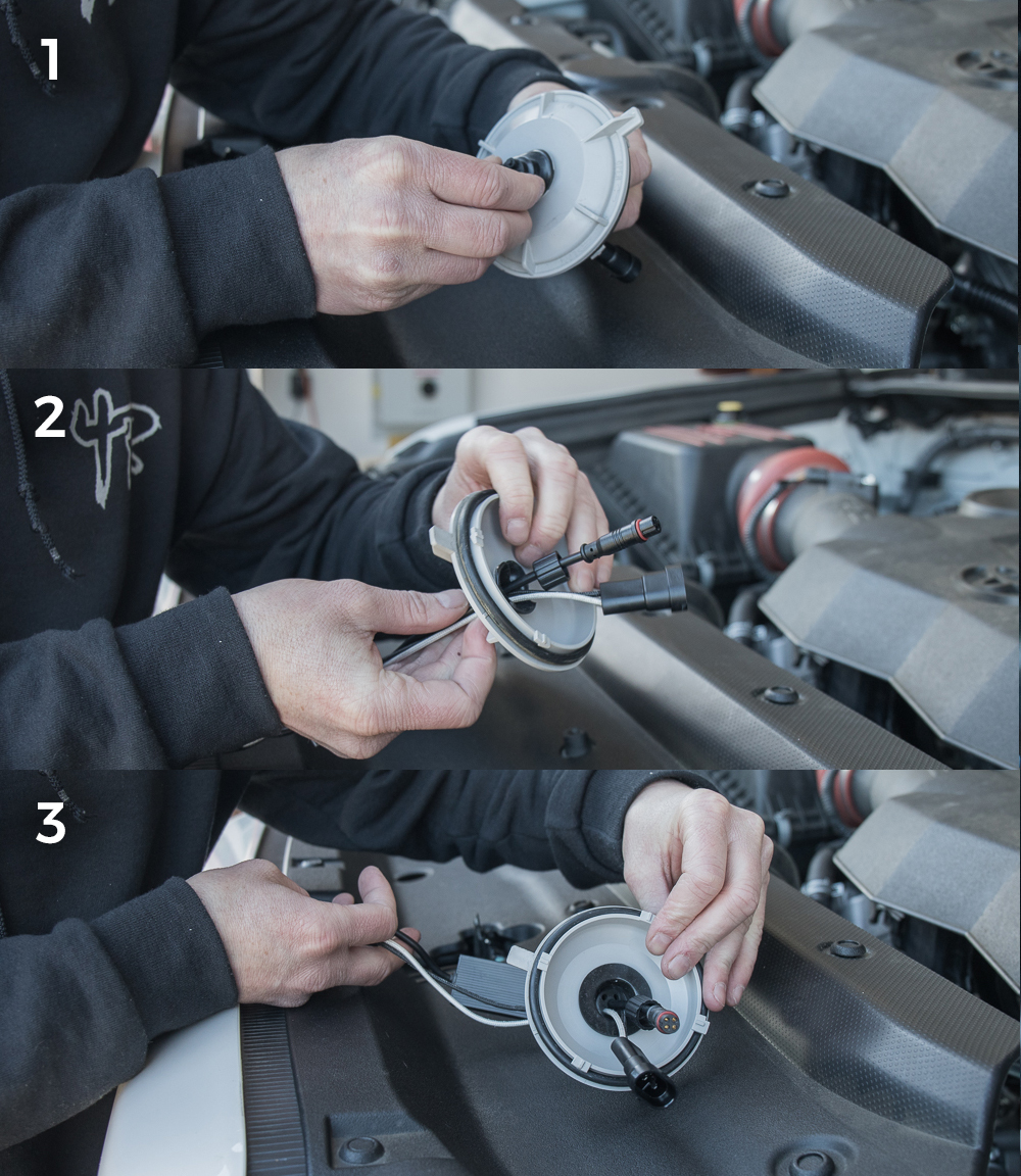 Low Beam (H11 Bulb) Install - Step #7: Fitting LED Wires