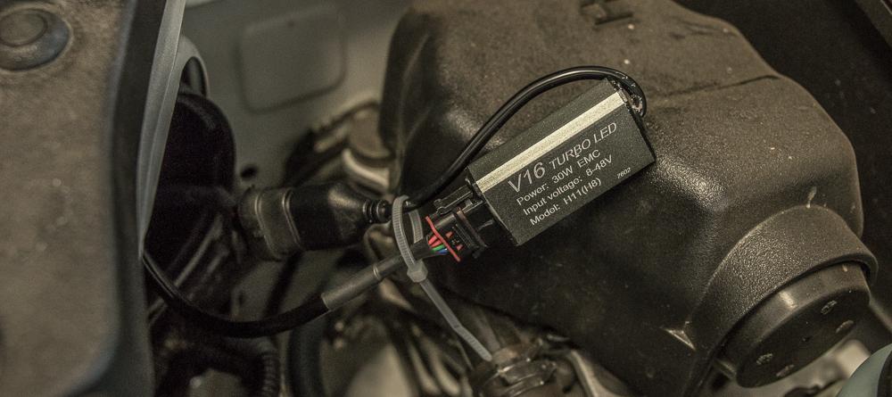 4Runner LED Headlight Install - Optional Zip-tie