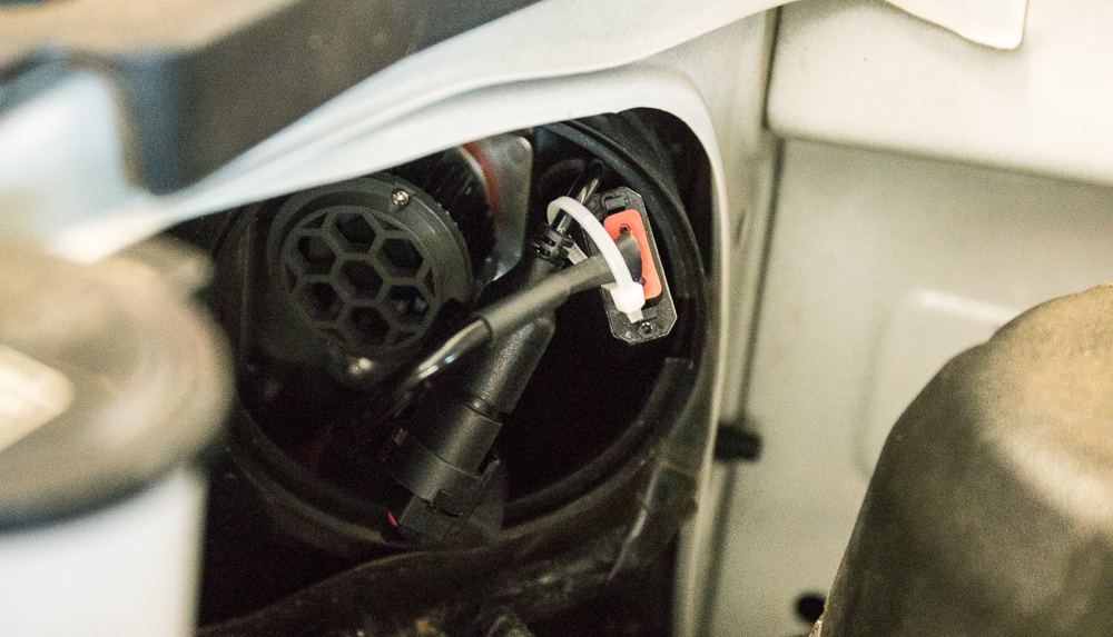 4Runner LED Headlight Install - Bundle Wire and Place in Housing