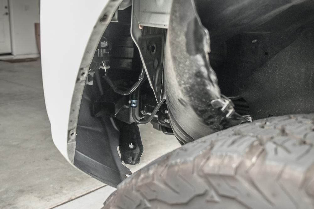 LED Fog Light Bulb (H16) Install Step #4 - Push Back Fender Liner